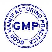 Grunge blue GMP (Good Manufacturing Practice) stamp