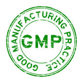 Grunge green GMP (Good Manufacturing Practice) stamp