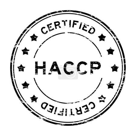 Grunge black HACCP (Hazard Analysis Critical Contr...