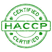 Grunge green HACCP (Hazard Analysis Critical Control Points) certified rubber stamp