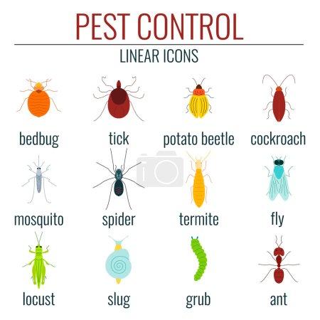 Pest control colored set