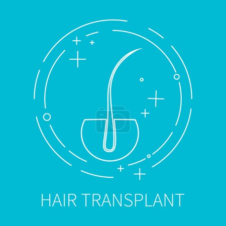 Hair transplant outlined icon