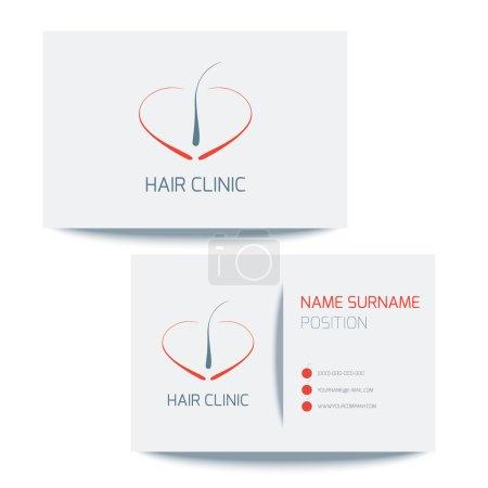 Business card for hair clinics
