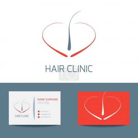 Hair clinic business card