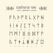 Rune alphabet. Occult ancient symbols.