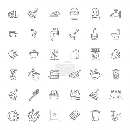 Illustration for Simple set of cleaning related vector icons for your design - Royalty Free Image