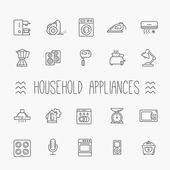 Osnovy ikony collection - domácí spotřebiče