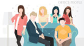 vector flat office people Flat design style