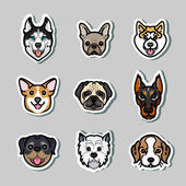 Dogs vector dog breeds