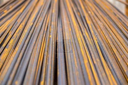 Metal construction steel bars