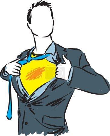 Illustration pour Homme d'affaires super héros illustration - image libre de droit