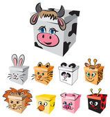BOX ANIMALS CHARACTERS illustration