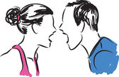 man and woman couple illustration 2