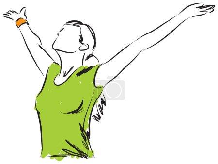 Illustration pour L'ILLUSTRATION DE LA LIBERTÉ ALIMENTAIRE DES FILLES - image libre de droit