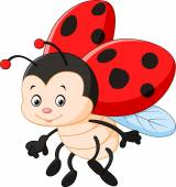 Cartoon ladybug waving
