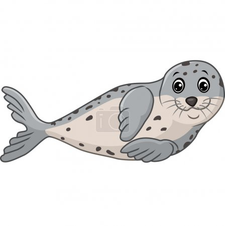 Illustration for Vector illustration of Cute seal cartoon - Royalty Free Image