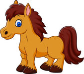 Vector illustration of Cartoon funny horse