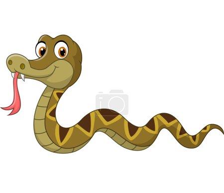 Illustration pour Illustration vectorielle du personnage de serpent de bande dessinée - image libre de droit