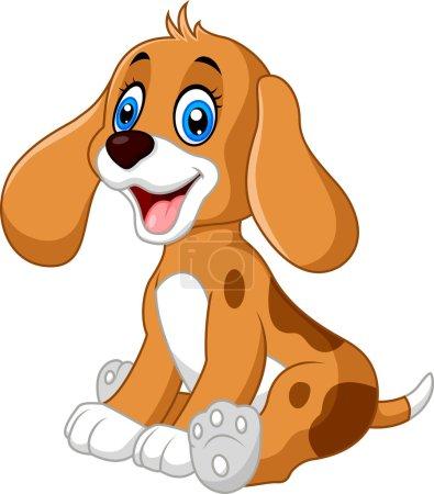 Illustration for Vector illustration of Cute dog cartoon - Royalty Free Image