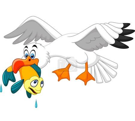 Mouette de dessin animé poisson