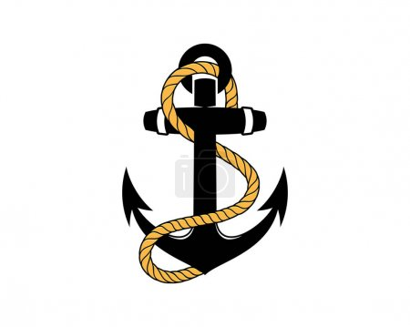 Anchor with a rope surrounding illustration...