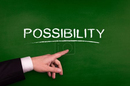 Businessman pointing on possibility