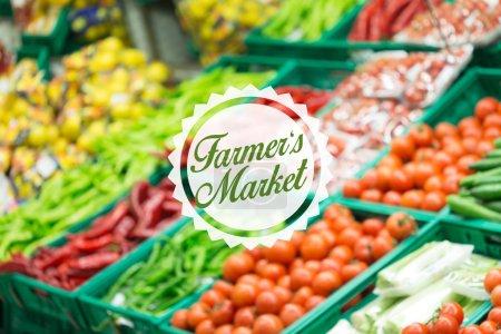 Blurred Farmer Market