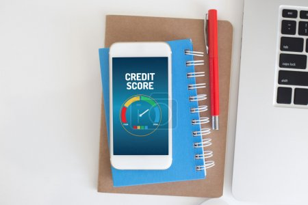 credit score application on a screen