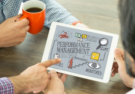 Performance Management Concept on Tablet PC Screen