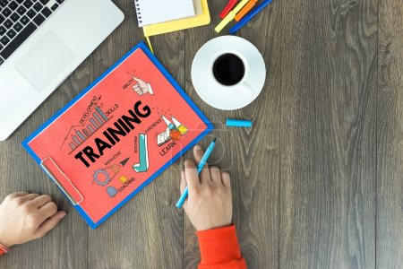 TRAINING business or education concept