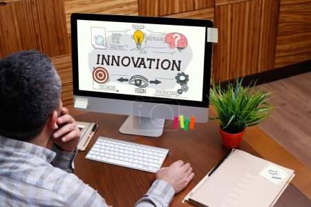 INNOVATION  text on screen.