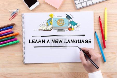 Foto de Concepto de educación comunicación graduación escuela de idiomas - Imagen libre de derechos