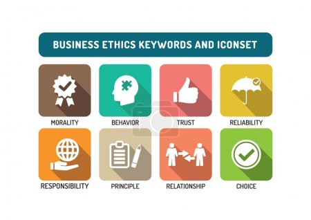 Business Ethics Icons Set