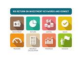 Return on Investment Icons Set