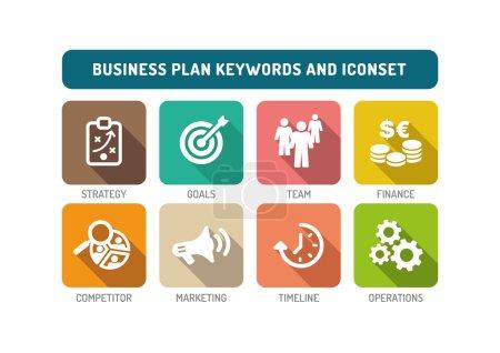Business Plan Icons Set