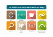 Search Engine Marketing Icons Set