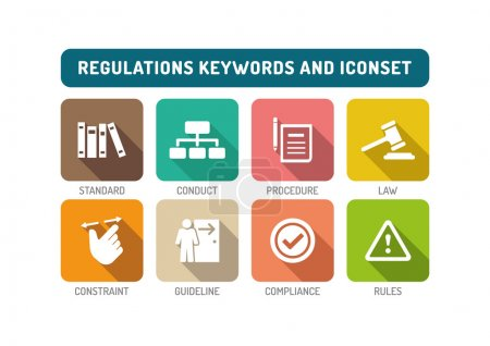 Regulations Icons Set