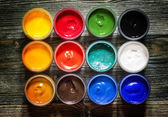 "Постер, картина, фотообои ""Палитра краски для рисования"""