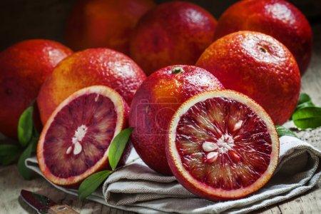 Cut Sicilian bloody oranges