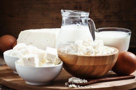 Farm organic dairy products