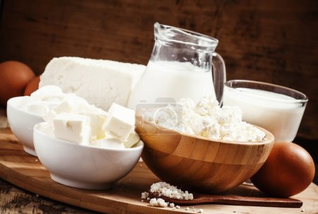 Farm organic dairy products