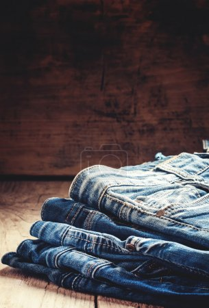 Classic casual blue jeans