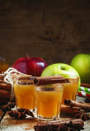 Apple cider with cinnamon and anise