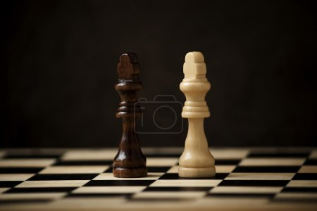 Chess figures on the chessboard