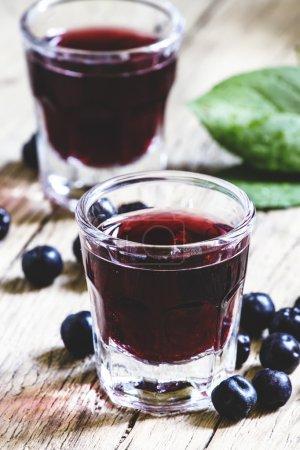 Homemade liqueur from aronia