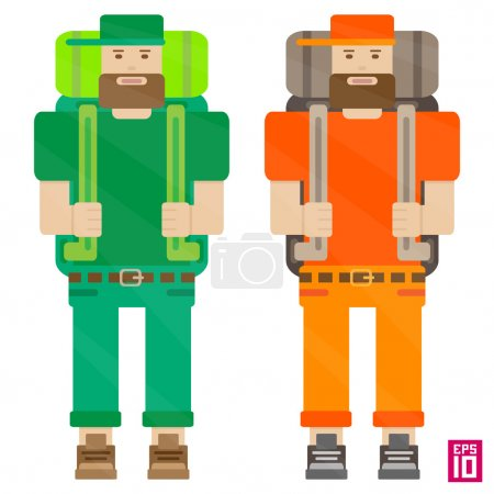 Orange and green travellers