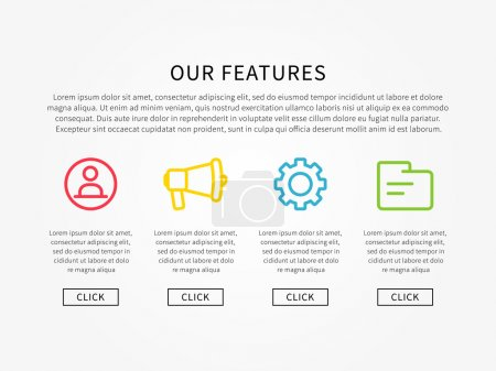 Our features webpage layout