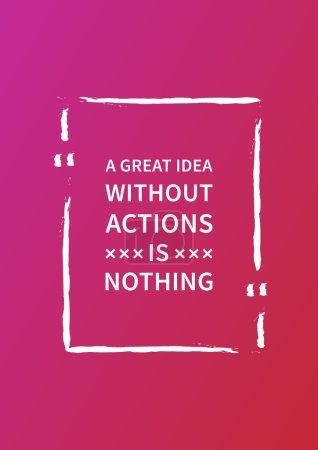 Inspirational saying, motivational words