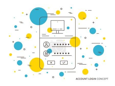 Login access webpage