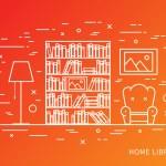 Постер, плакат: Modern designer home library interior